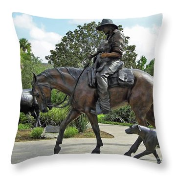 Cracker Cowboy And His Dog Throw Pillow