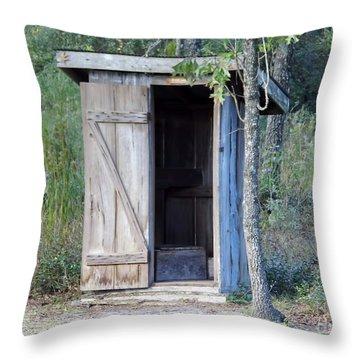 Cracker Out House Throw Pillow