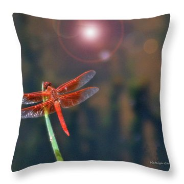 Crackerjack Dragonfly Throw Pillow