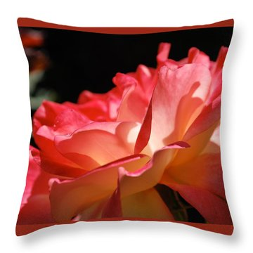 Cracklin' Rose Throw Pillow