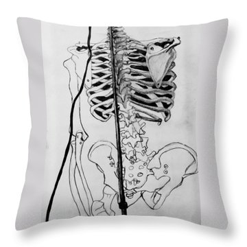 Crackling Bones Throw Pillow