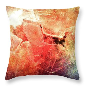 Cracks Of Colors Throw Pillow