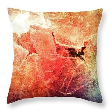 Cracks Of Colors Throw Pillow