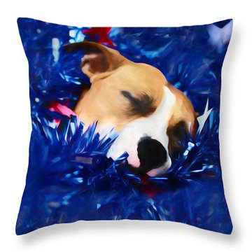 Throw Pillow featuring the photograph Cradled By A Blanket Of Stars And Stripes by Shelley Neff