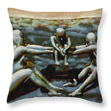 Cradle Throw Pillow by Leo Mazzeo