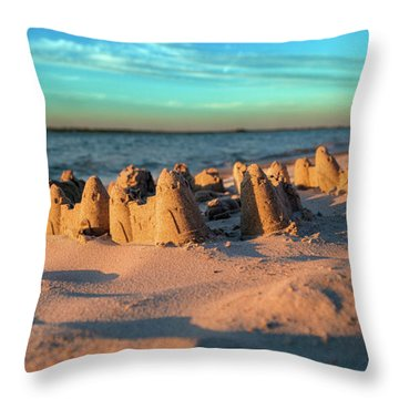 Crafted With Care By Tiny Hands Throw Pillow