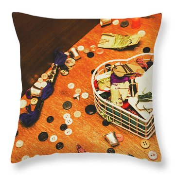 Crafting Corner Throw Pillow