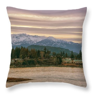 Craig Bay Throw Pillow by Randy Hall