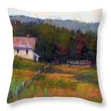 Crammond Farm Throw Pillow by Susan Williamson