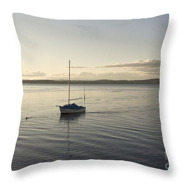 Cramond. Boat. Throw Pillow