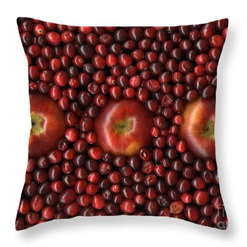 Cranapple Throw Pillow by Christian Slanec