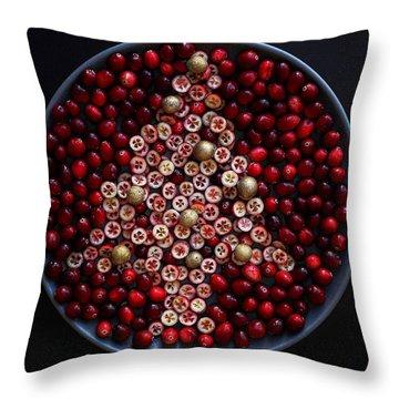 Cranberry Christmas Tree Throw Pillow