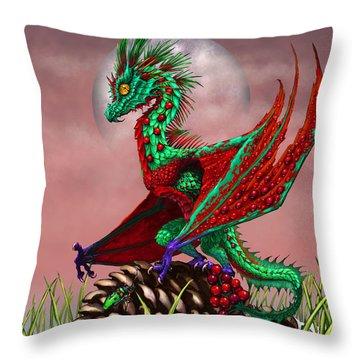 Cranberry Dragon Throw Pillow
