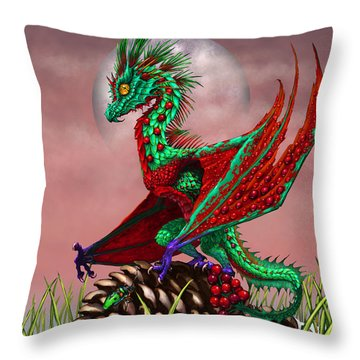 Cranberry Dragon Throw Pillow