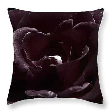 Cranberry Rose Throw Pillow by Clayton Bruster