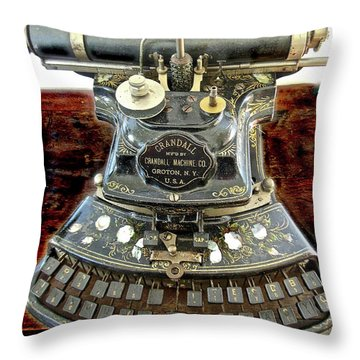 Crandall Type Writer 1893 Throw Pillow
