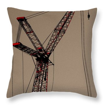 Crane's Up Throw Pillow