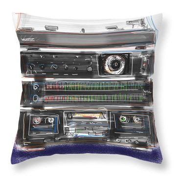 Crank It Up Throw Pillow by Russell Pierce