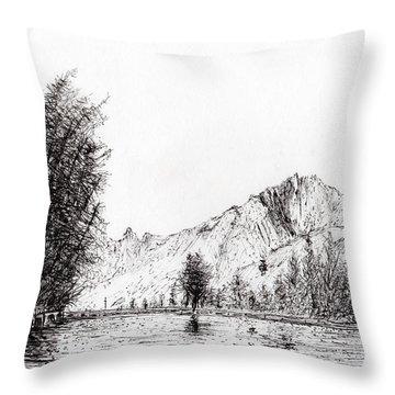 Crans  Switzerland Throw Pillow