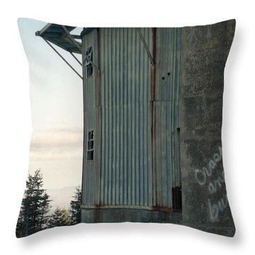 Crash And Burn Throw Pillow by Richard Rizzo