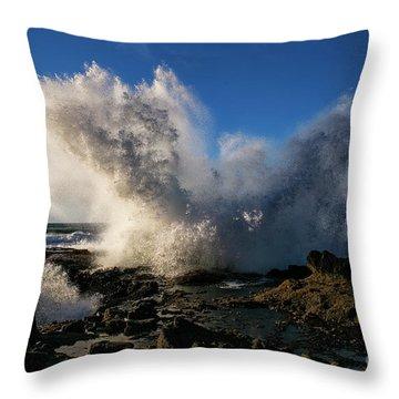 Crash Landing Throw Pillow
