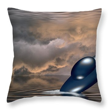 Crashdive In A Watery World Throw Pillow