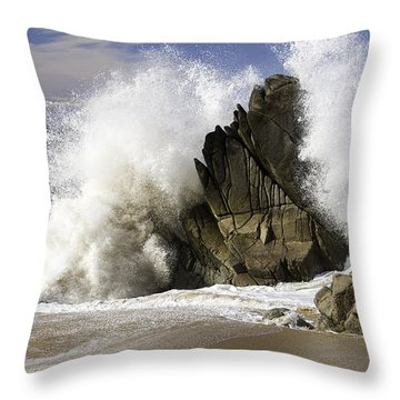 Crashing Throw Pillow
