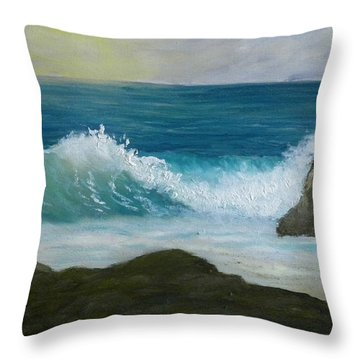 Crashing Wave 3 Throw Pillow