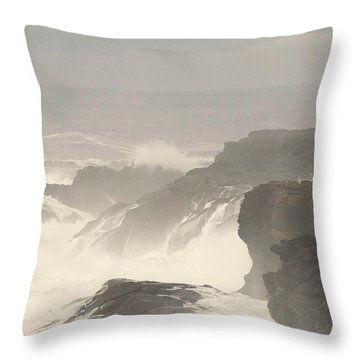 Crashing Waves Throw Pillow by Angi Parks