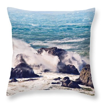 Throw Pillow featuring the photograph Crashing Waves by Kim Wilson