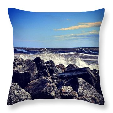 Crashing Waves Throw Pillow