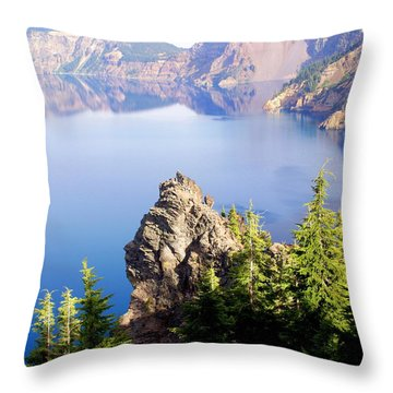 Crater Lake 4 Throw Pillow by Marty Koch