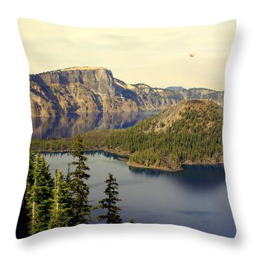 Crater Lake 6 Throw Pillow by Marty Koch
