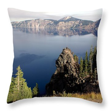 Crater Lake 7 Throw Pillow by Marty Koch