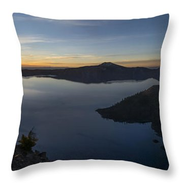 Crater Lake At Sunrise Throw Pillow