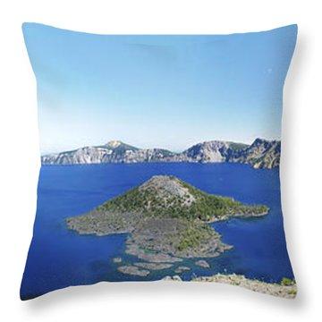 Crater Lake Panoramic Throw Pillow