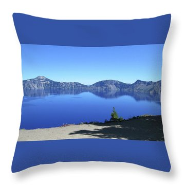 Crater Lake Throw Pillow by Tony Mathews