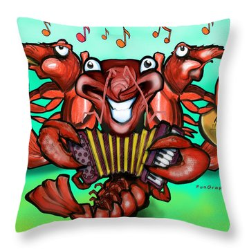 Crawfish Band Throw Pillow