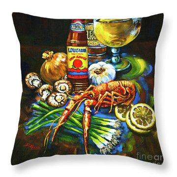 Crawfish Fixin's Throw Pillow