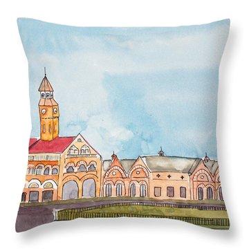 Crawford Market Mumbai Throw Pillow