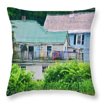 Crayola Cottages Throw Pillow