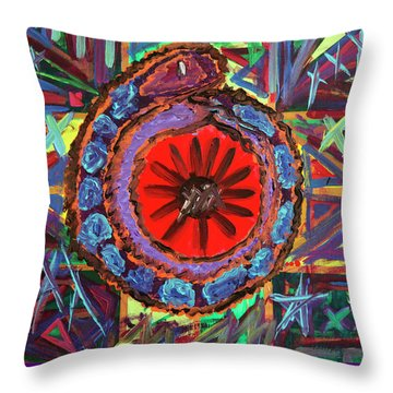 Crazil Throw Pillow