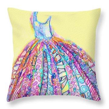 Crazy Color Dress Throw Pillow