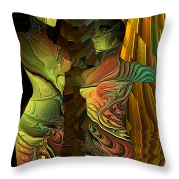 Crazy Dance -2- Throw Pillow