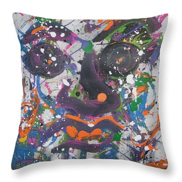Crazy Day Throw Pillow
