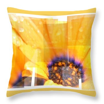 Crazy Flower Petals Throw Pillow