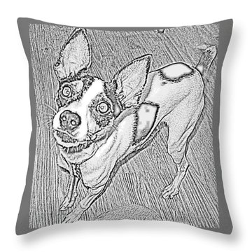 Crazy Frida Throw Pillow by Jan VonBokel