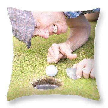 Crazy Golfer Throw Pillow