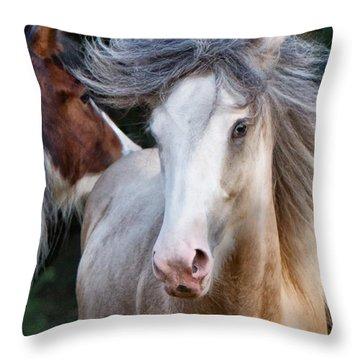 Crazy Hair Throw Pillow by Sharon Jones