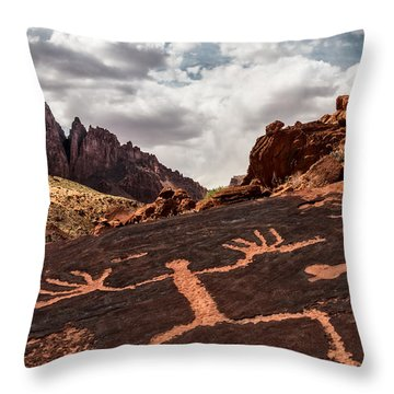 Crazy Hands Throw Pillow